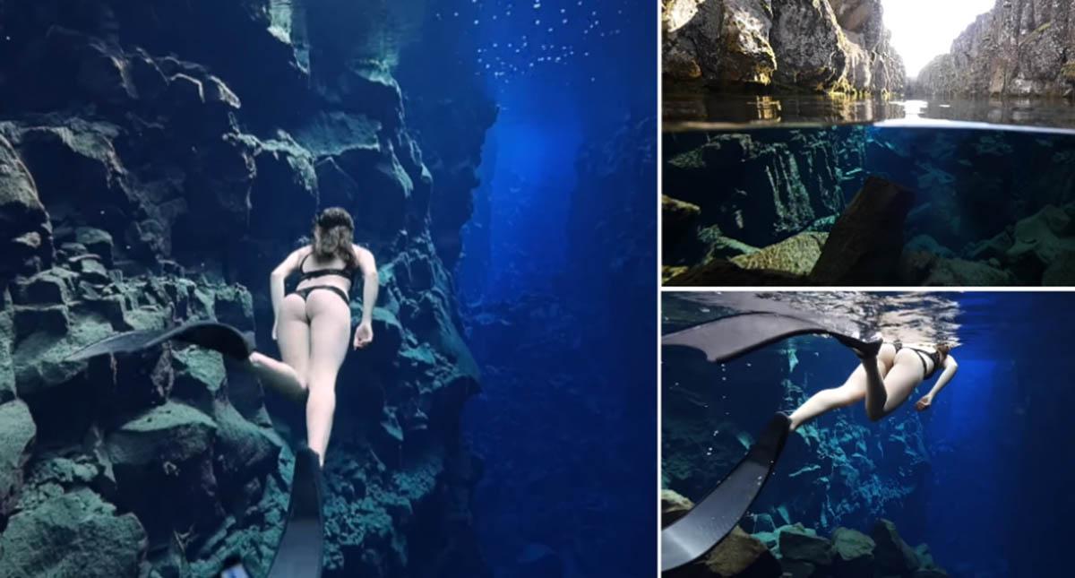 Vais impressionar-te com as águas do parque Nacional de Thingvellir na Islândia
