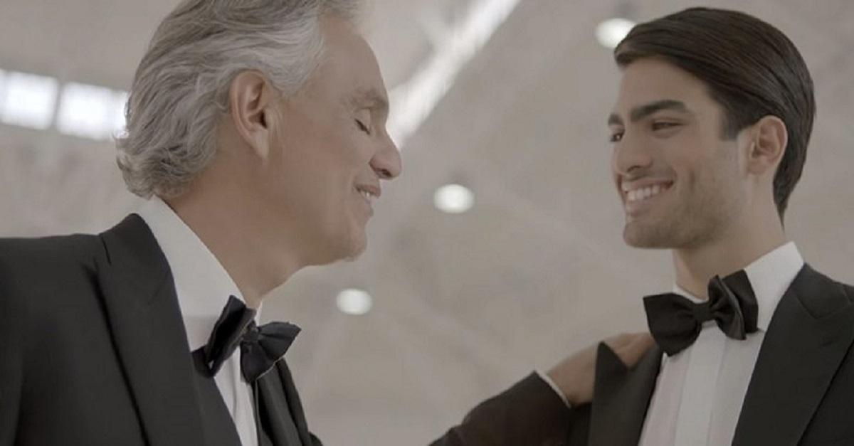 Andrea Bocelli fez um espectacular dueto com o filho Matteo