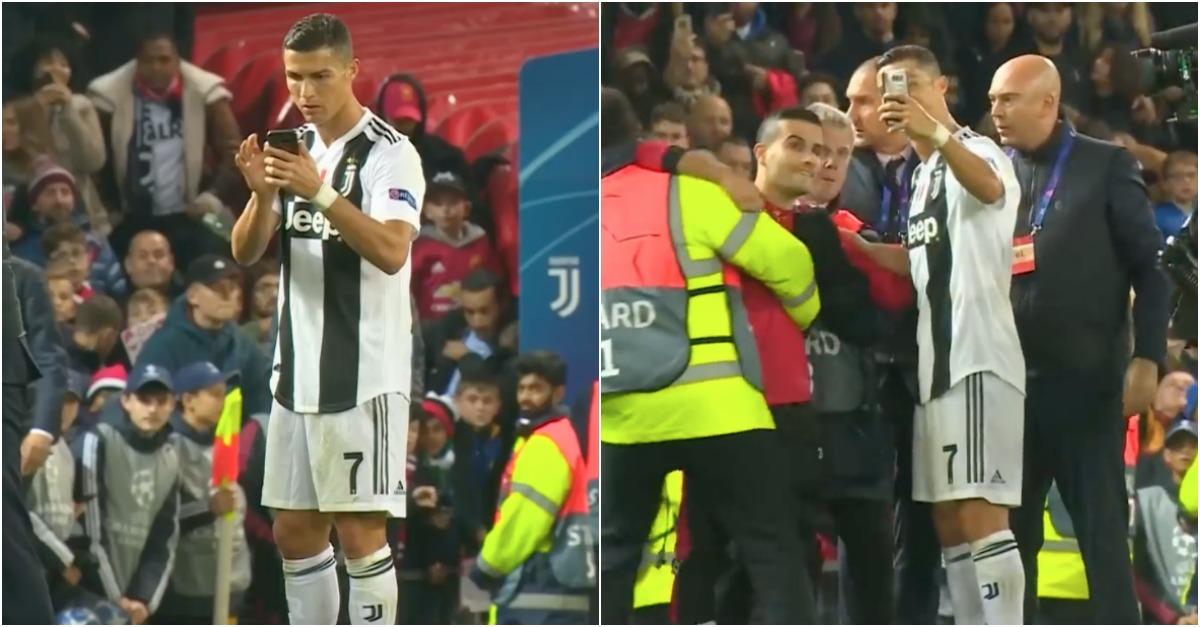 """Ronaldo tira """"selfie"""" com adepto que invadiu o campo"""