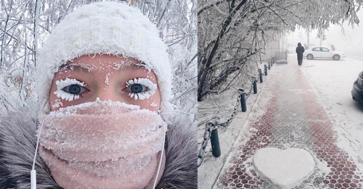 O termómetro até partiu nos -62ºC na cidade mais fria do mundo! As fotos são arrepiantes!