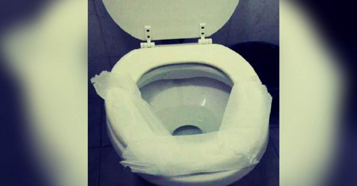 Costumas cobrir a sanita com papel higiénico quando vais a um WC público? Estás a cometer um erro grave…