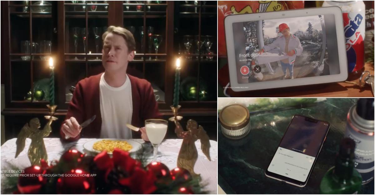 """Macaulay Culkin recriou o filme """"Sozinho em Casa"""" desta vez com a Google Assistant"""