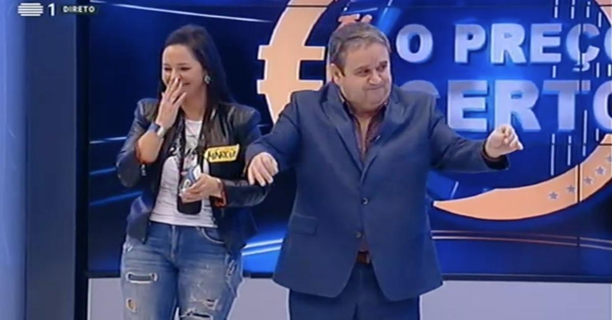 Fernando Mendes fica sem palavras com concorrente do Preço Certo