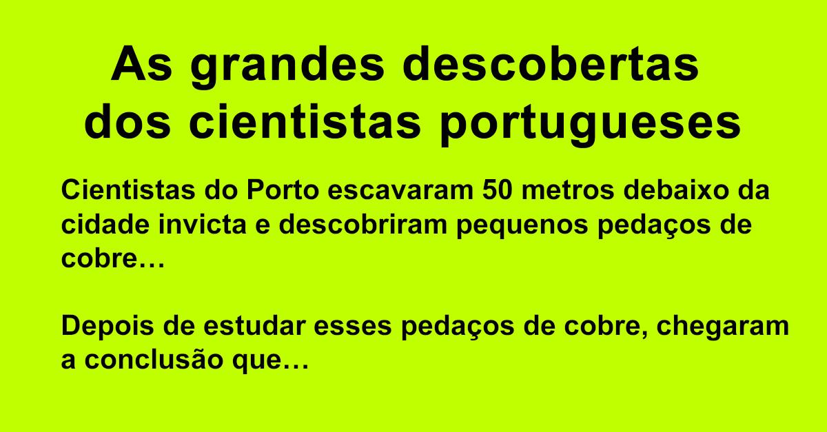 As grandes descobertas dos cientistas portugueses