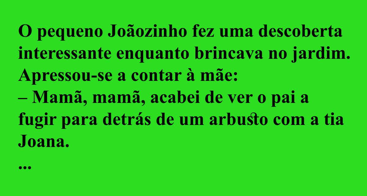 Joãozinho fez uma descoberta interessante…
