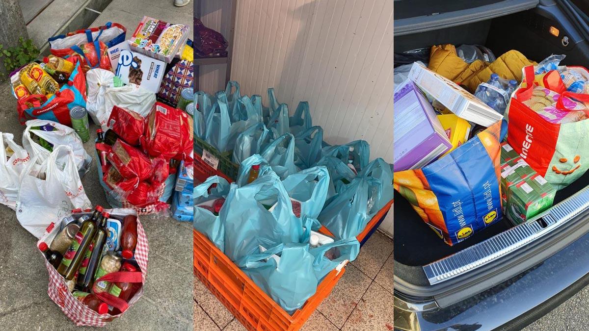 Claque dos Super Dragões distribui alimentos a idosos e famílias numerosas
