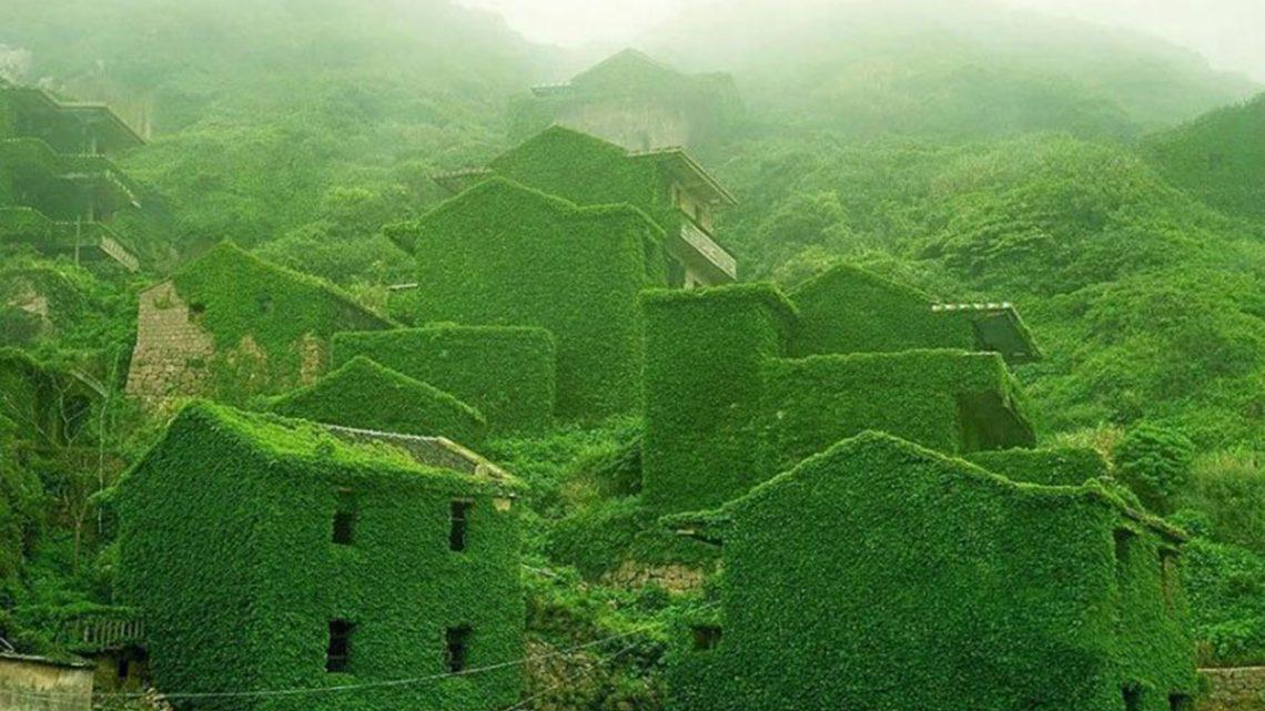 Vila piscatória abandona foi recuperada pela natureza