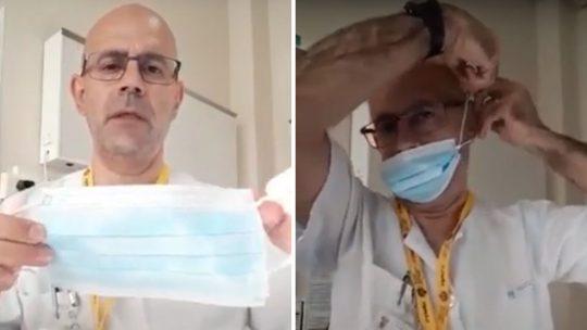 Médico apresenta truque simples para ajustar a máscara cirúrgica