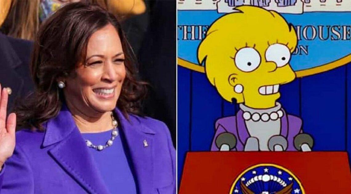Roupa de Kamala Harris é igual à de Lisa. Voltaram os Simpsons a prever o futuro?